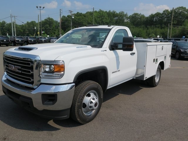 2019 Sierra 3500 Regular Cab DRW 4x4,  Reading Classic II Steel Service Body #K9912 - photo 3