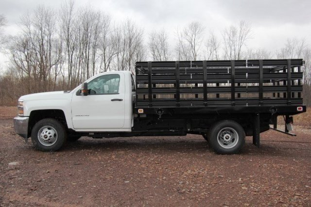 2017 Silverado 3500 Regular Cab DRW, Knapheide Stake Bed #C85437 - photo 4