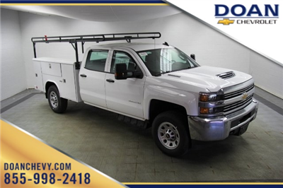 2018 Silverado 3500 Crew Cab 4x4,  Reading Classic II Steel Service Body #C86783 - photo 1