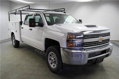 2018 Silverado 3500 Crew Cab 4x4,  Reading Classic II Steel Service Body #C86783 - photo 3