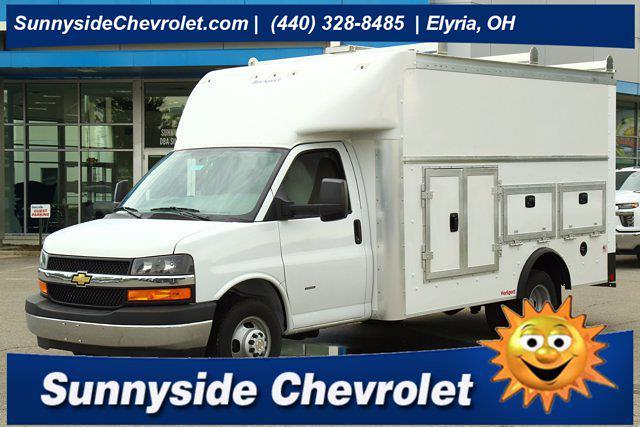 2021 Chevrolet Express 3500 4x2, Rockport Service Utility Van #901811 - photo 1