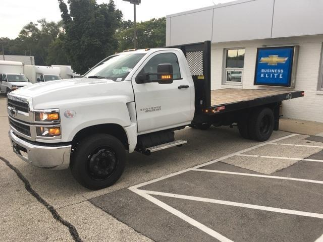 2019 Silverado Medium Duty Regular Cab DRW 4x2, Monroe Work-A-Hauler II Platform Body #191753 - photo 1