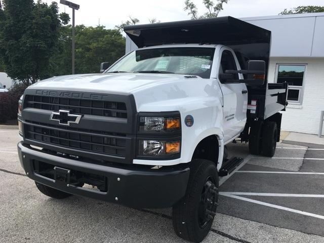 2019 Silverado Medium Duty Regular Cab DRW 4x4,  Knapheide Drop Side Dump Body #191882 - photo 1