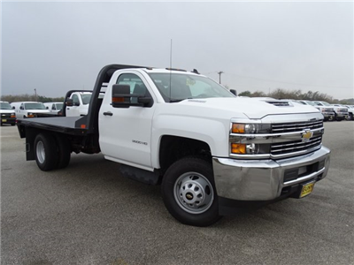 2018 Silverado 3500 Regular Cab DRW 4x4, CM Truck Beds RD Model Platform Body #CC81157 - photo 3
