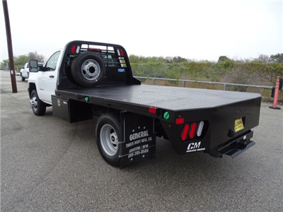 2018 Silverado 3500 Regular Cab DRW 4x4, CM Truck Beds RD Model Platform Body #CC81157 - photo 2