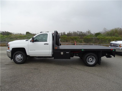 2018 Silverado 3500 Regular Cab DRW 4x4, CM Truck Beds RD Model Platform Body #CC81157 - photo 8