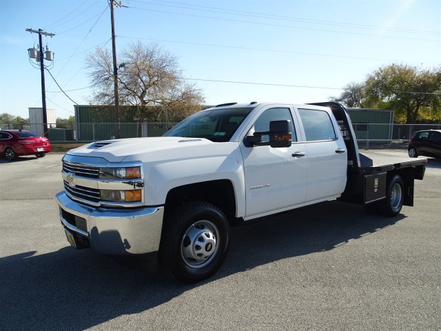 2018 Silverado 3500 Crew Cab DRW 4x4, CM Truck Beds RD Model Platform Body #CC81185 - photo 1