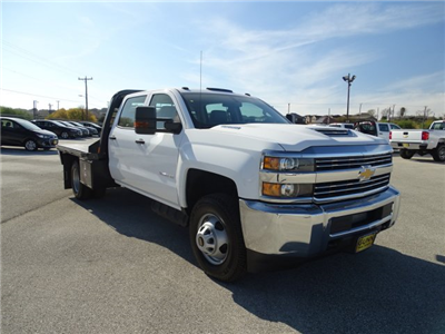 2018 Silverado 3500 Crew Cab DRW 4x4, CM Truck Beds RD Model Platform Body #CC81185 - photo 3