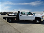 2018 Silverado 3500 Crew Cab DRW 4x4, CM Truck Beds RD Model Platform Body #CC81185 - photo 4