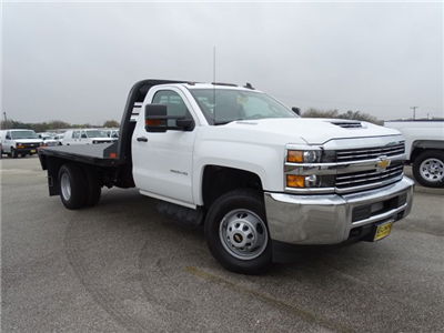 2018 Silverado 3500 Regular Cab DRW 4x4, CM Truck Beds RD Model Platform Body #CC81226 - photo 3