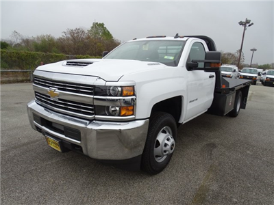 2018 Silverado 3500 Regular Cab DRW 4x4, CM Truck Beds RD Model Platform Body #CC81226 - photo 1