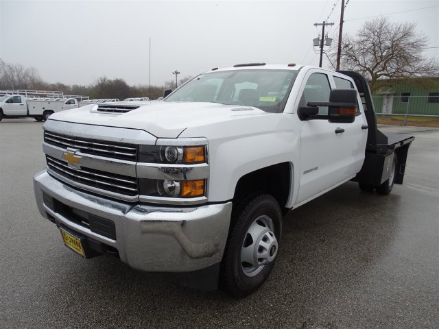 2018 Silverado 3500 Crew Cab DRW 4x4, CM Truck Beds RD Model Platform Body #CC81358 - photo 1