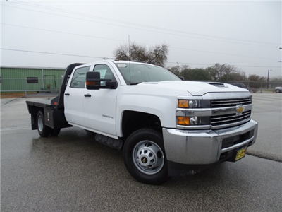 2018 Silverado 3500 Crew Cab DRW 4x4, CM Truck Beds RD Model Platform Body #CC81358 - photo 3