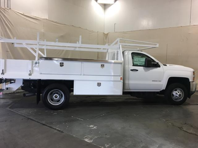 2018 Silverado 3500 Regular Cab DRW 4x4,  Harbor Contractor Body #195012 - photo 5