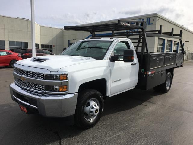 2019 Silverado 3500 Regular Cab DRW 4x2,  The Fab Shop Contractor Body #240037 - photo 1