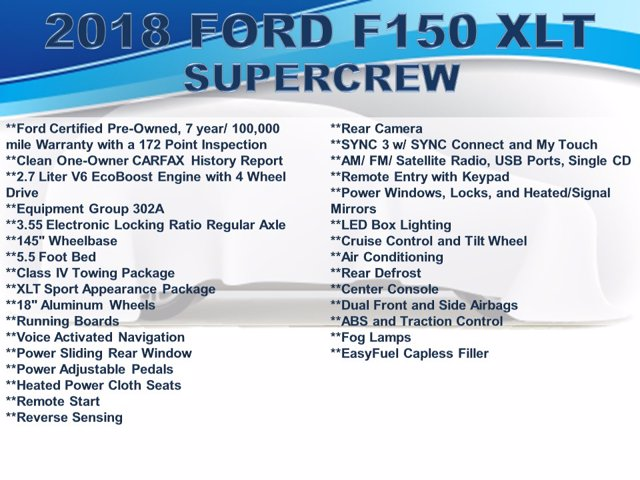 2018 Ford F-150 SuperCrew Cab 4x4, Pickup #F0230D - photo 4