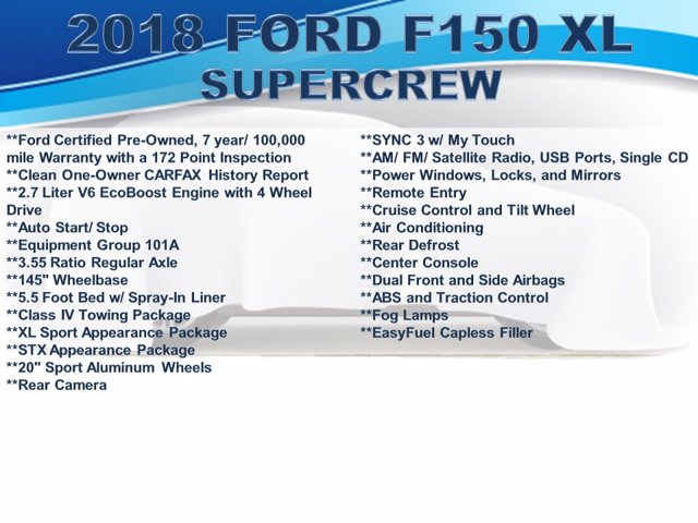 2018 Ford F-150 SuperCrew Cab 4x4, Pickup #F0322D - photo 4