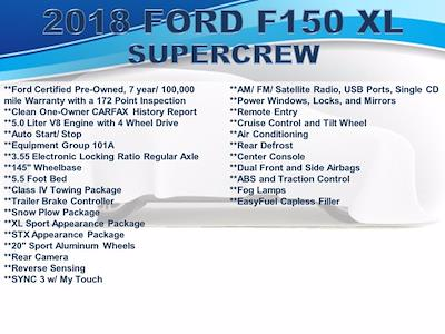 2018 Ford F-150 SuperCrew Cab 4x4, Pickup #F1054D - photo 3