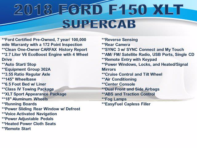 2018 Ford F-150 Super Cab 4x4, Pickup #F1062D - photo 4