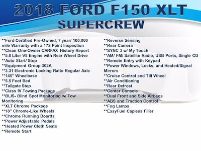 2018 Ford F-150 SuperCrew Cab 4x2, Pickup #F1071P - photo 4