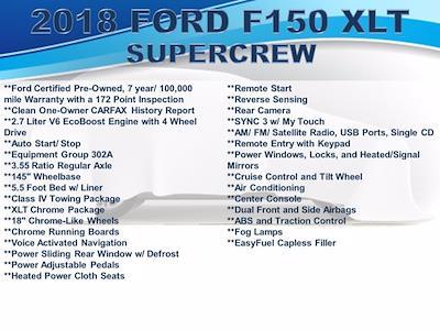 2018 Ford F-150 SuperCrew Cab 4x4, Pickup #F1073D - photo 3