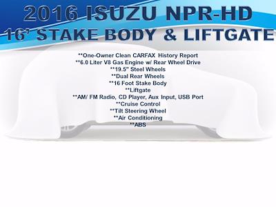 2016 Isuzu NPR Regular Cab 4x2, Stake Bed #F1079P - photo 16