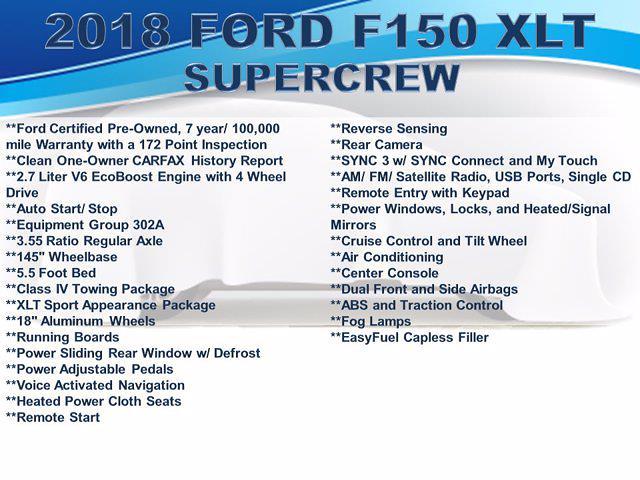 2018 Ford F-150 SuperCrew Cab 4x4, Pickup #F1085D - photo 4