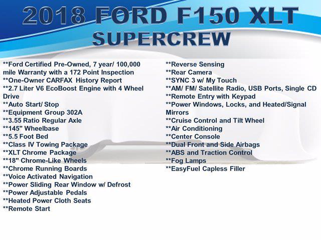 2018 Ford F-150 SuperCrew Cab 4x4, Pickup #F1089D - photo 4
