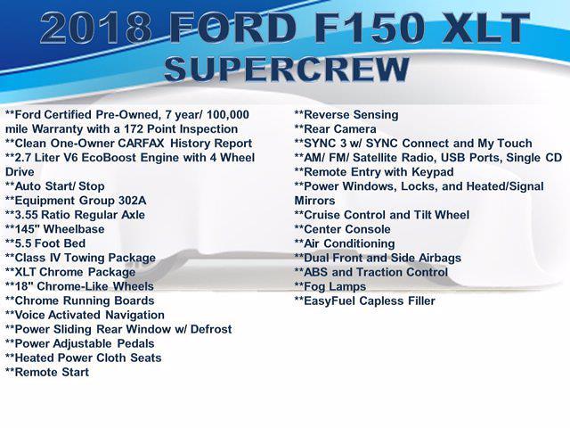 2018 F-150 SuperCrew Cab 4x4,  Pickup #F1094D - photo 5