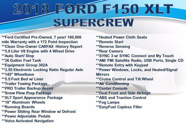 2018 Ford F-150 SuperCrew Cab 4x4, Pickup #F1100D - photo 6