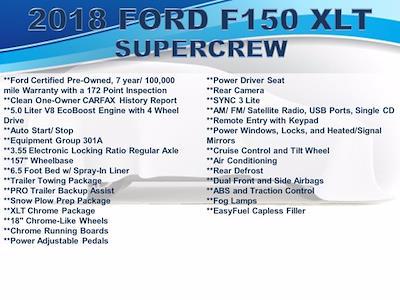 2018 Ford F-150 SuperCrew Cab 4x4, Pickup #F1100P - photo 3