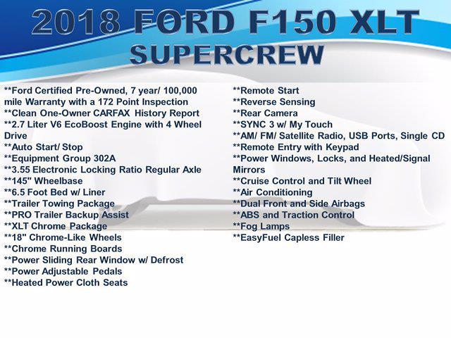 2018 Ford F-150 Super Cab 4x4, Pickup #F1104D - photo 2