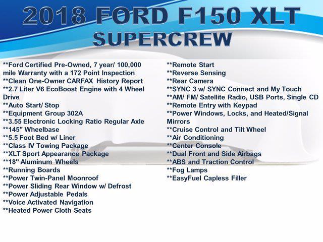 2018 Ford F-150 SuperCrew Cab 4x4, Pickup #F1108D - photo 4