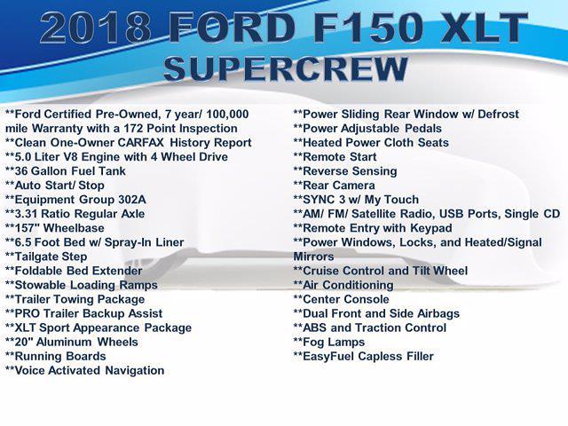 2018 F-150 SuperCrew Cab 4x4,  Pickup #F1123D - photo 5