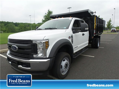 2018 F-450 Super Cab DRW 4x4,  Reading Landscaper SL Landscape Dump #FU8269 - photo 1