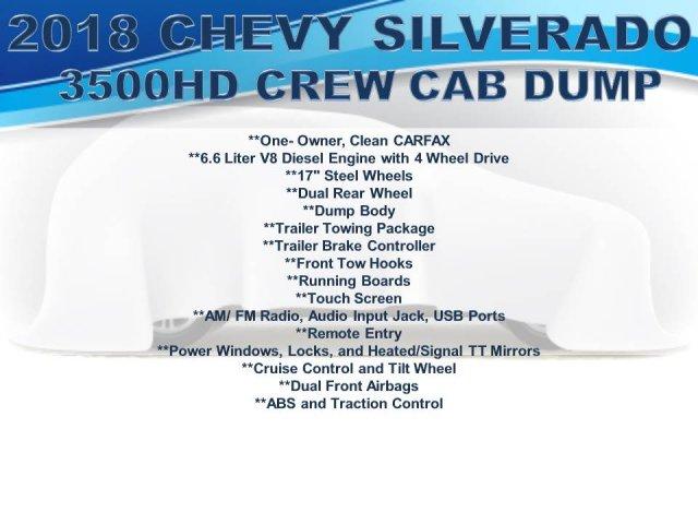 2018 Silverado 3500 Crew Cab DRW 4x4, Dump Body #FU94761 - photo 3
