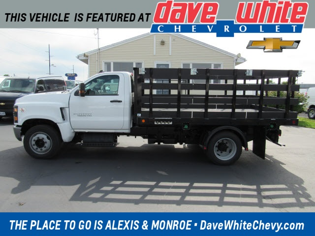 2019 Chevrolet Silverado Medium Duty Regular Cab DRW 4x2, 12 ft stake body #19625 - photo 1