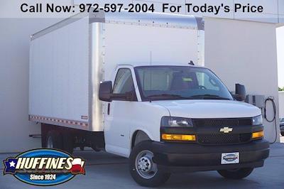 2021 Chevrolet Express 3500 DRW 4x2, Morgan Parcel Aluminum Cutaway Van #21CF0438 - photo 1
