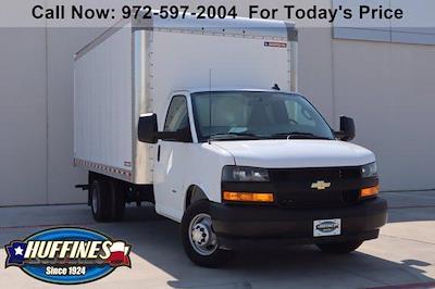 2021 Chevrolet Express 3500 DRW 4x2, Morgan Parcel Aluminum Cutaway Van #21CF0452 - photo 1