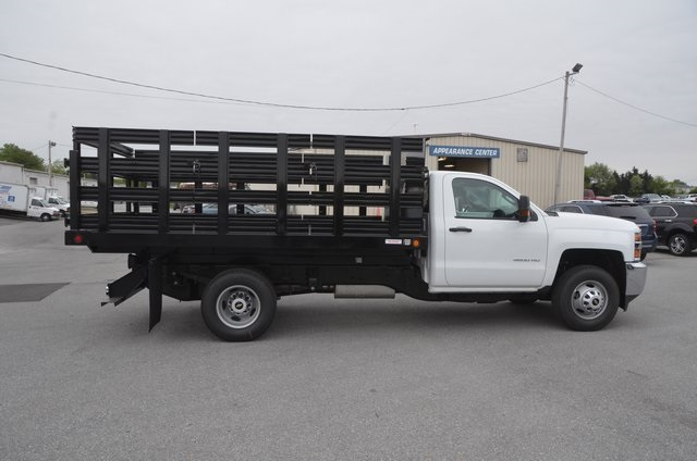 2016 Silverado 3500 Regular Cab 4x4, Stake Bed #C61118 - photo 6