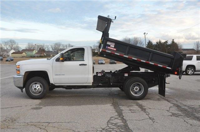 2017 Silverado 3500 Regular Cab DRW 4x4, Morgan Dump Body #C73032 - photo 11