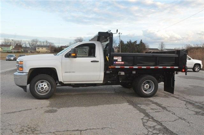 2017 Silverado 3500 Regular Cab DRW 4x4, Morgan Dump Body #C73032 - photo 3