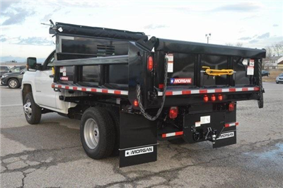 2017 Silverado 3500 Regular Cab DRW 4x4, Morgan Dump Body #C73032 - photo 2