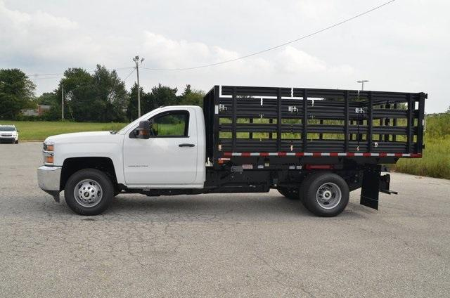 2019 Silverado 3500 Regular Cab DRW 4x4,  Morgan Stake Bed #C90093 - photo 3