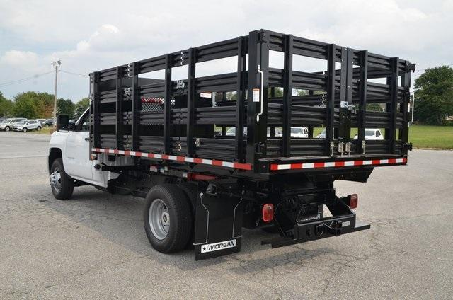 2019 Silverado 3500 Regular Cab DRW 4x4,  Morgan Stake Bed #C90093 - photo 2