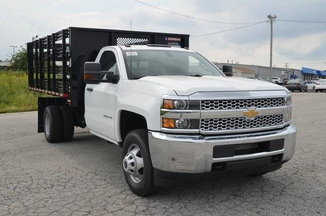 2019 Silverado 3500 Regular Cab DRW 4x4,  Morgan Stake Bed #C90093 - photo 7