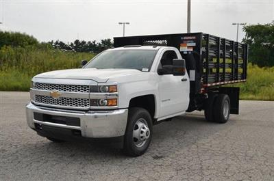 2019 Silverado 3500 Regular Cab DRW 4x4,  Morgan Stake Bed #C90093 - photo 1