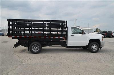 2019 Silverado 3500 Regular Cab DRW 4x4,  Morgan Stake Bed #C90093 - photo 6