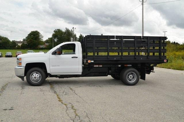 2019 Silverado 3500 Regular Cab DRW 4x4,  Knapheide Value-Master X Stake Bed #C90115 - photo 3