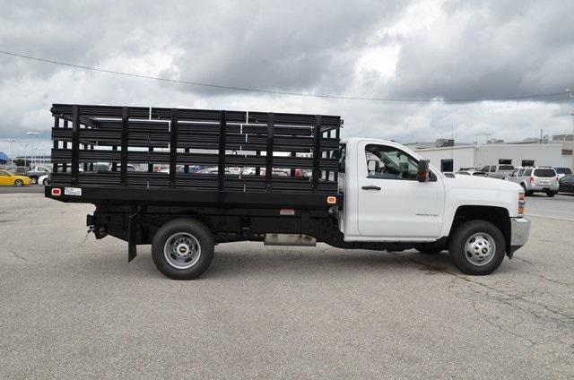 2019 Silverado 3500 Regular Cab DRW 4x4,  Knapheide Value-Master X Stake Bed #C90115 - photo 6